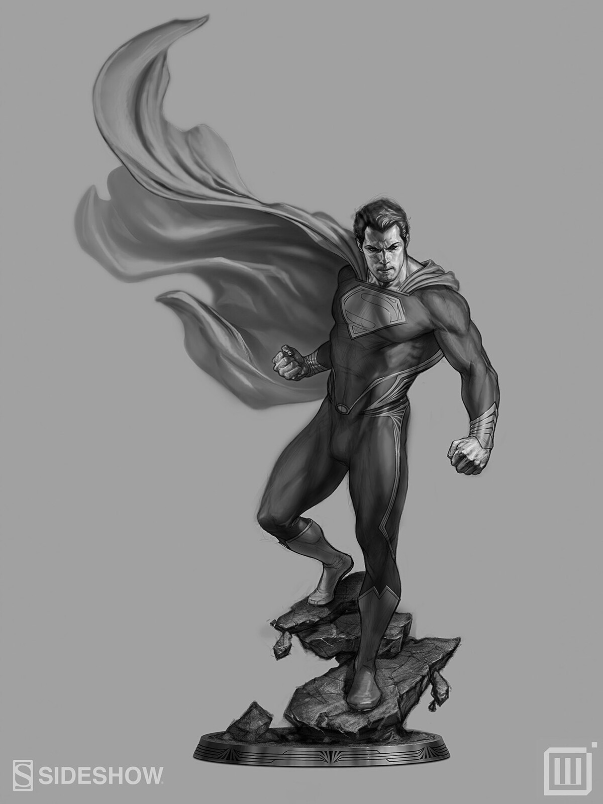 "Concept art for Sideshow Collectibles' DC ""Man of Steel"""