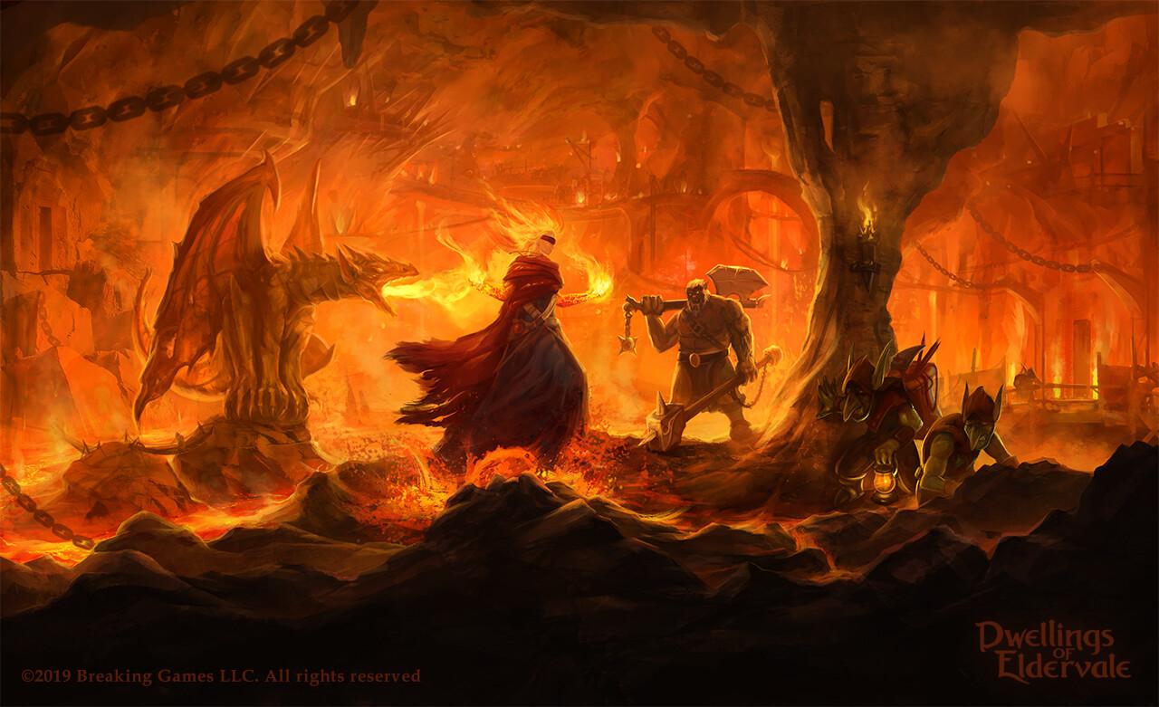 Dwellings of Eldervale' Firewitch Goblins player board.