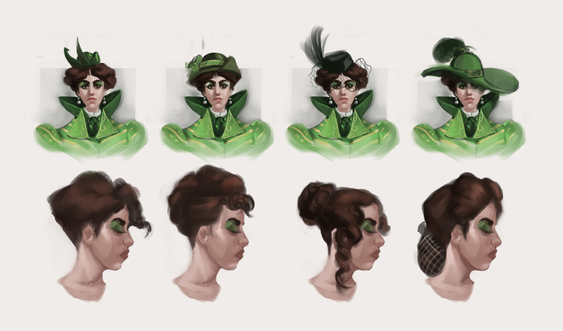 Hat and hair variants