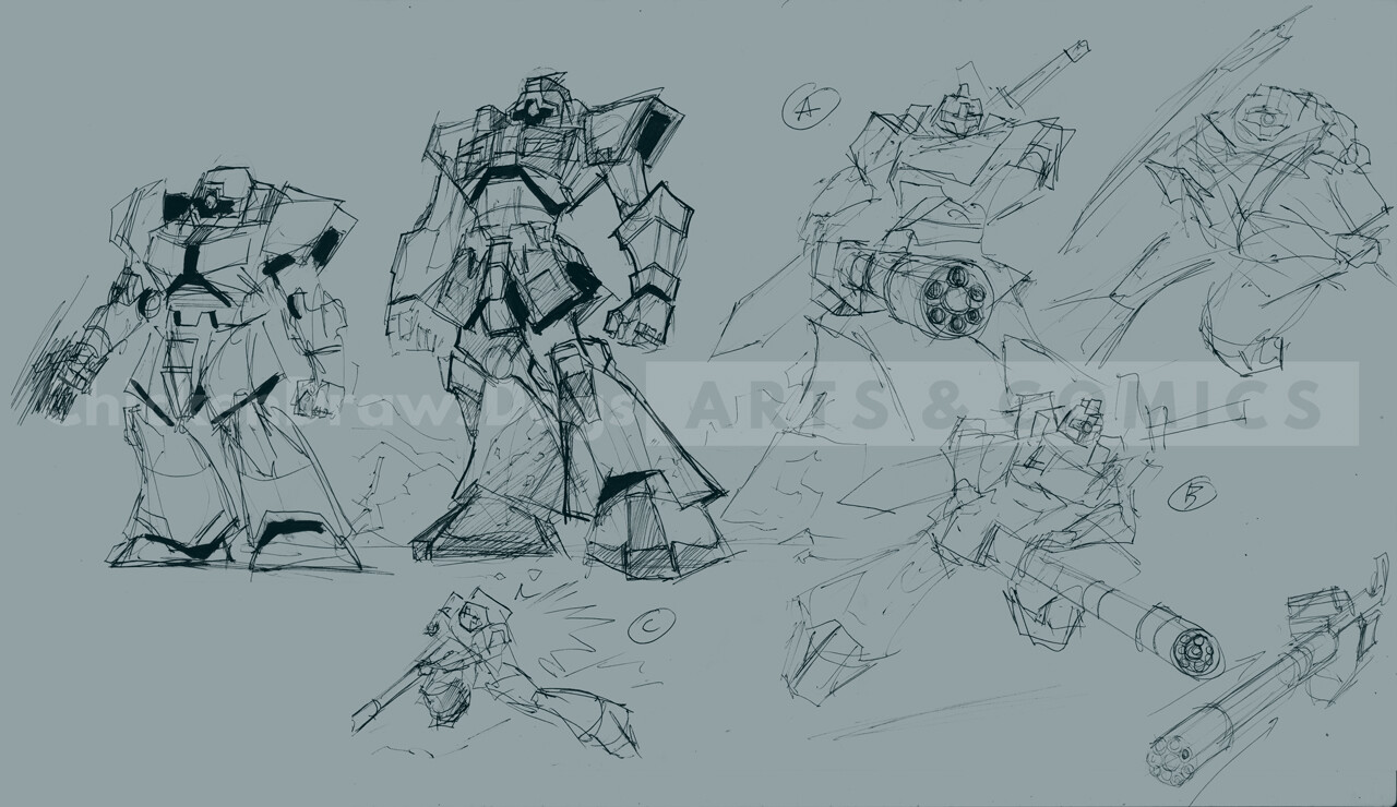 ArtStation - GUNDAM - Custom Leo, Chicken Draws Dogs