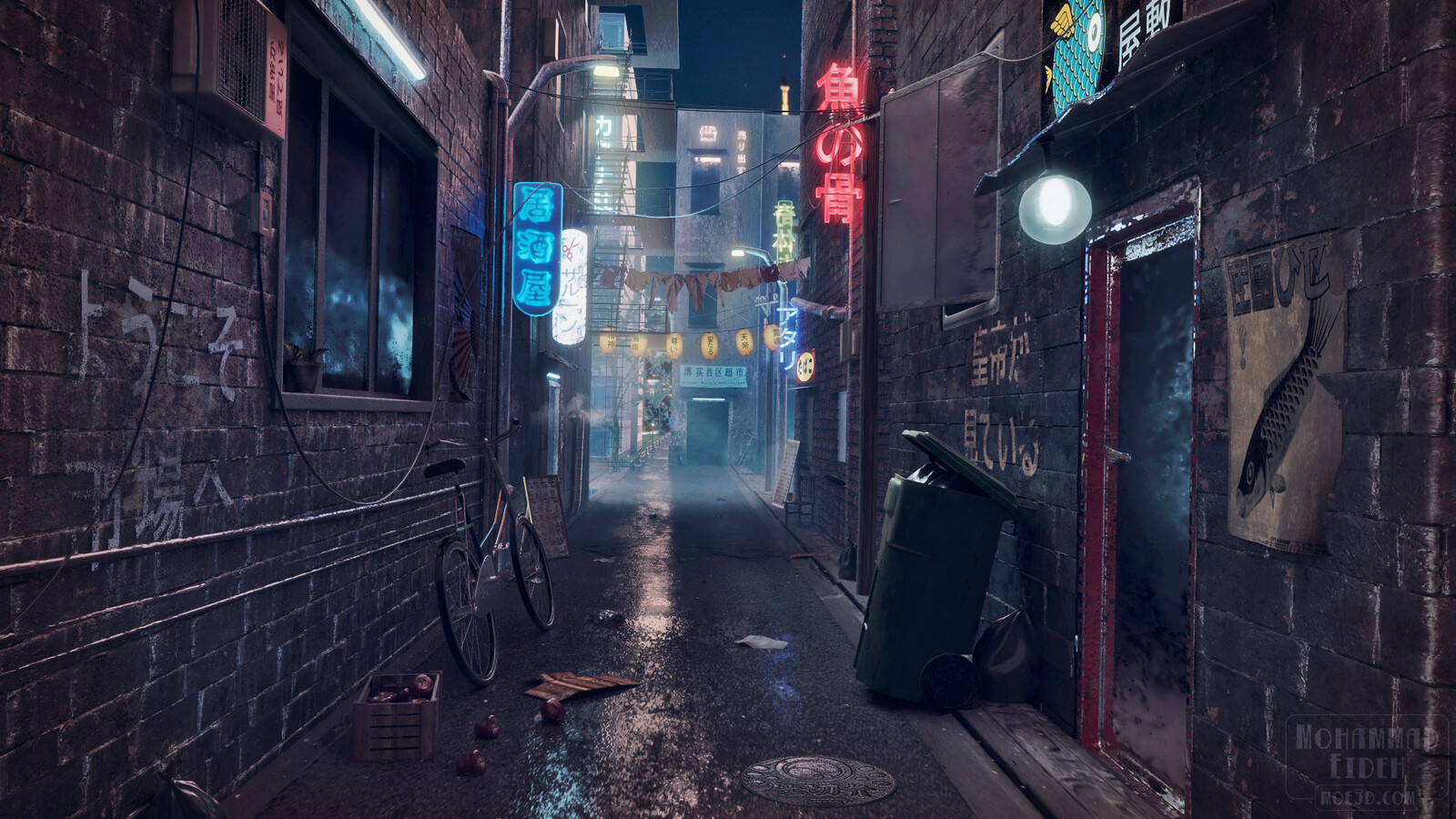 Final render. Inspired by Japanese back-alley markets