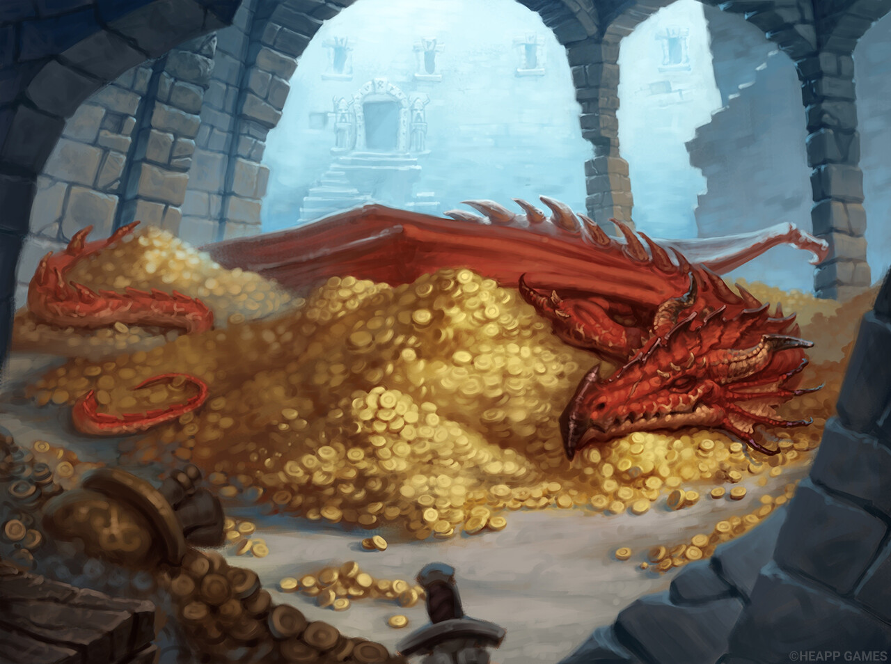 ArtStation - Dragon's Cave, Alexander Yakovlev