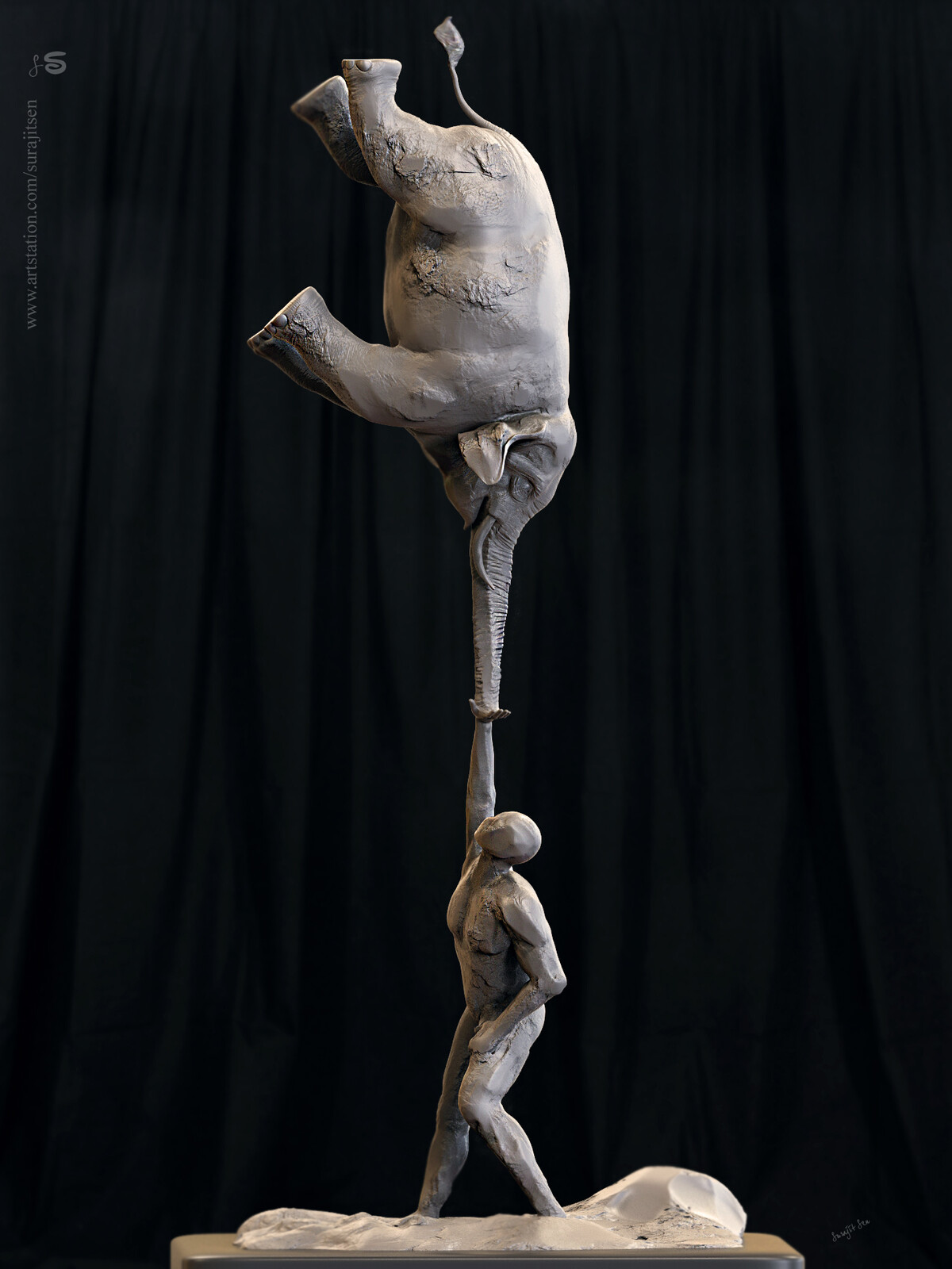 """""""Life""""... One of my free time rough Digital Sculpture... Played with brushes! Background music- #hanszimmermusic"""