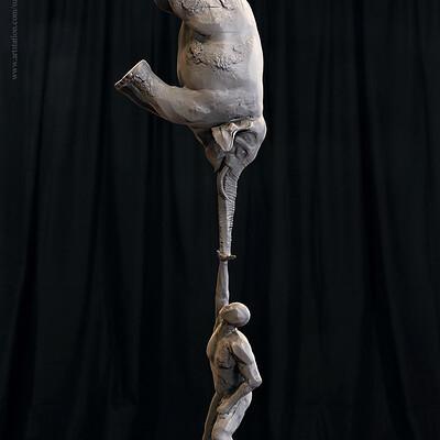 Surajit sen life digital sculpture surajitsen jul2019