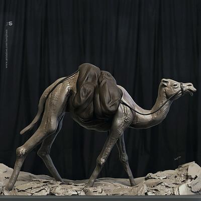 Surajit sen camel digital sculpture surajitsen jul2019