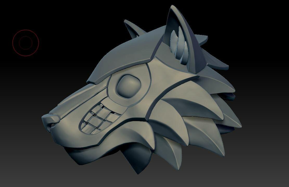 Wolf Armor Helm sculpt