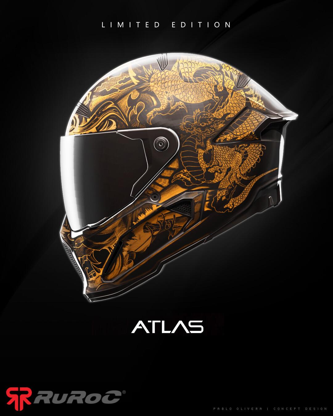Pablo olivera helmet ruroc limited edition atlas ronin v01