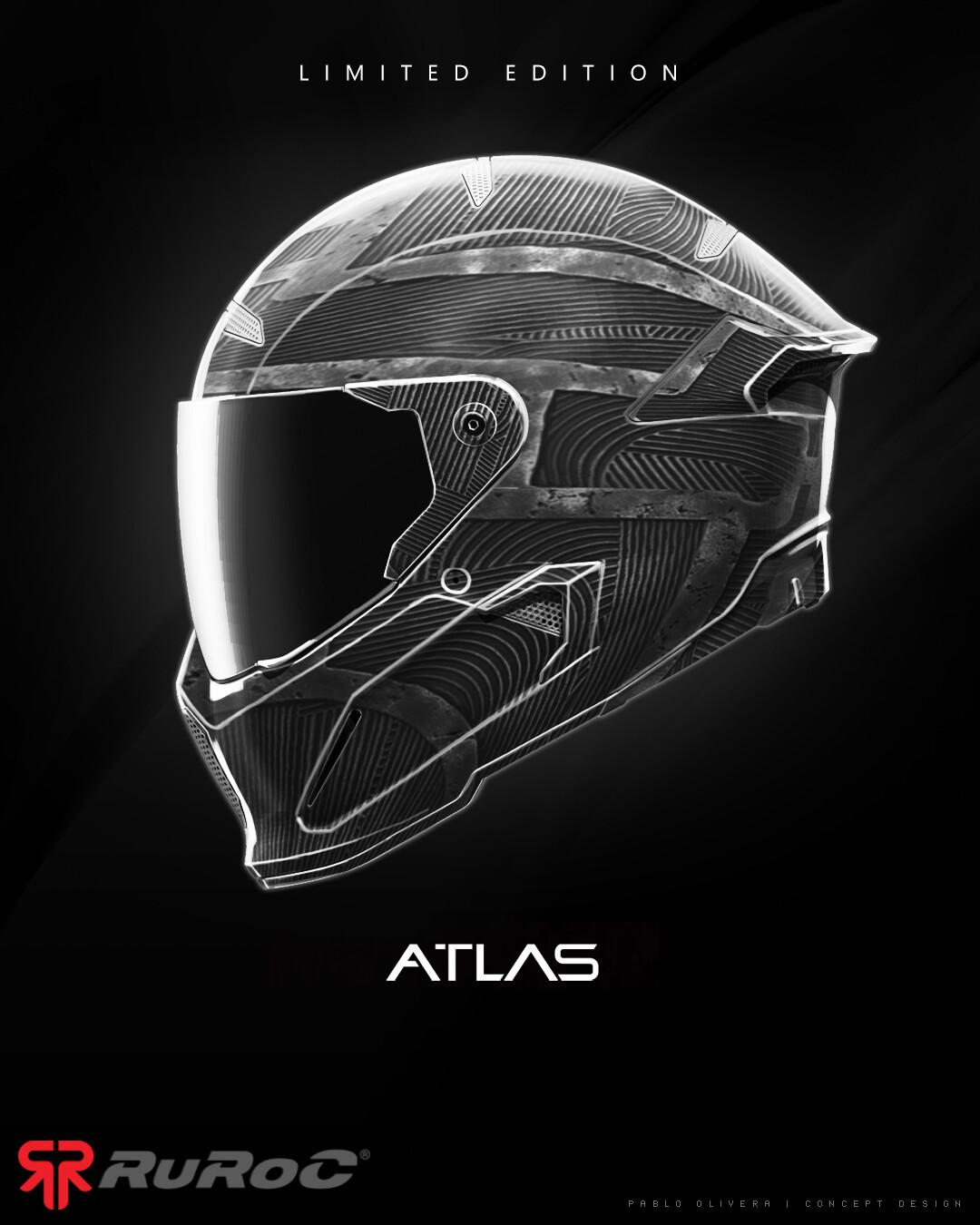 Pablo olivera helmet ruroc limited edition atlas panther v01