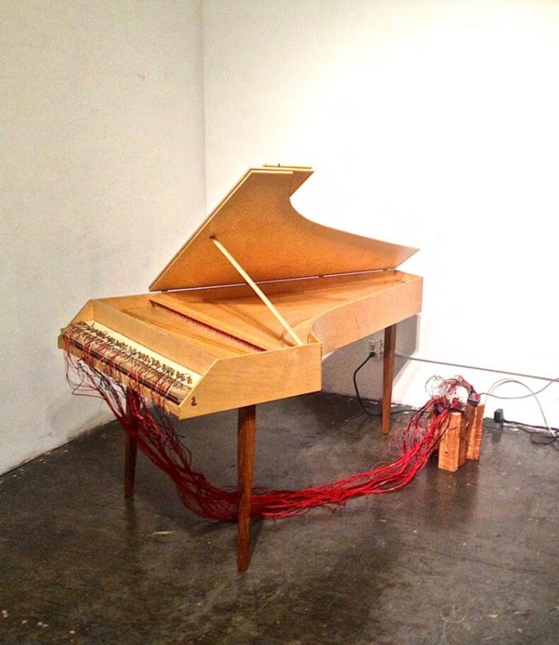 Robotic Harpsichord (installation & sound piece)