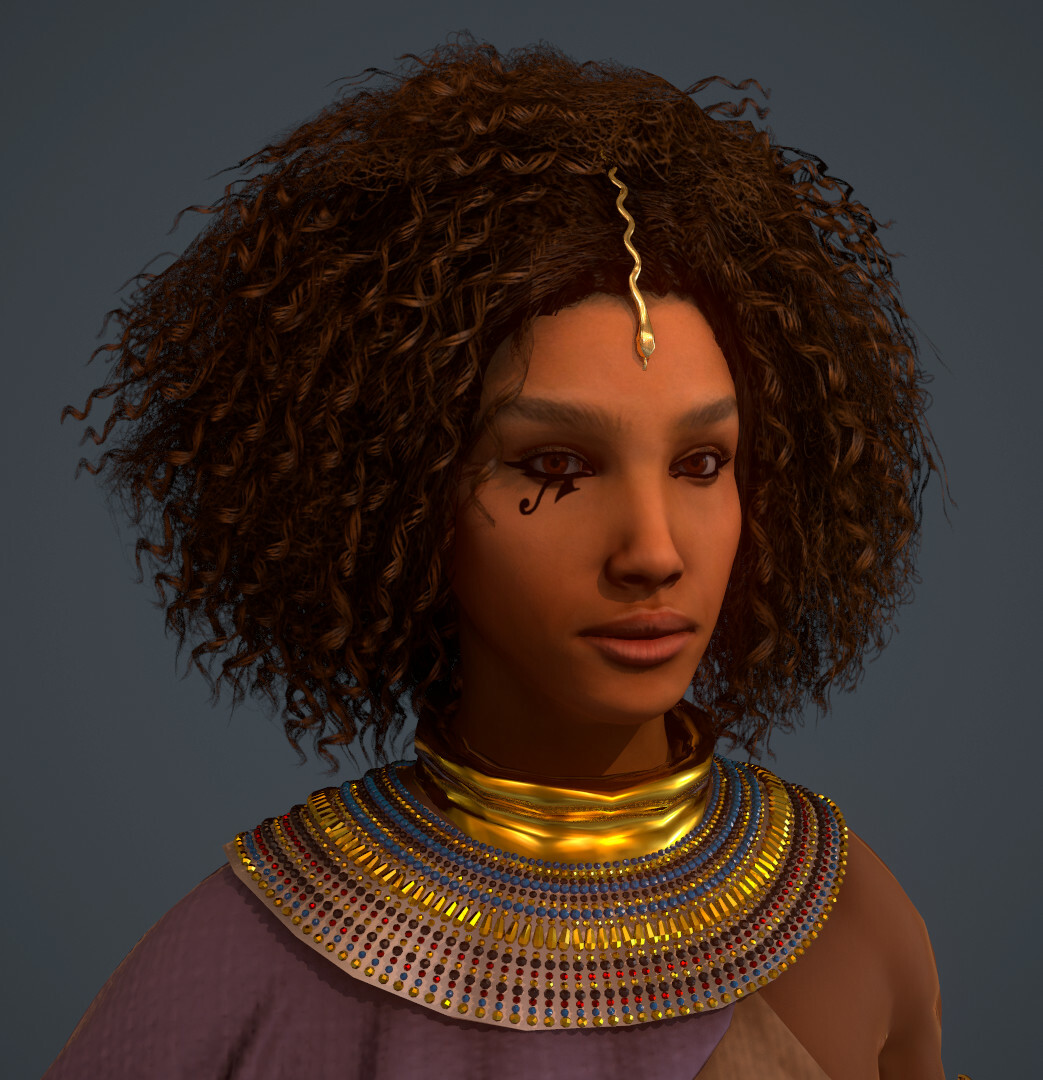 This is my character Amani and she's getting rigged!