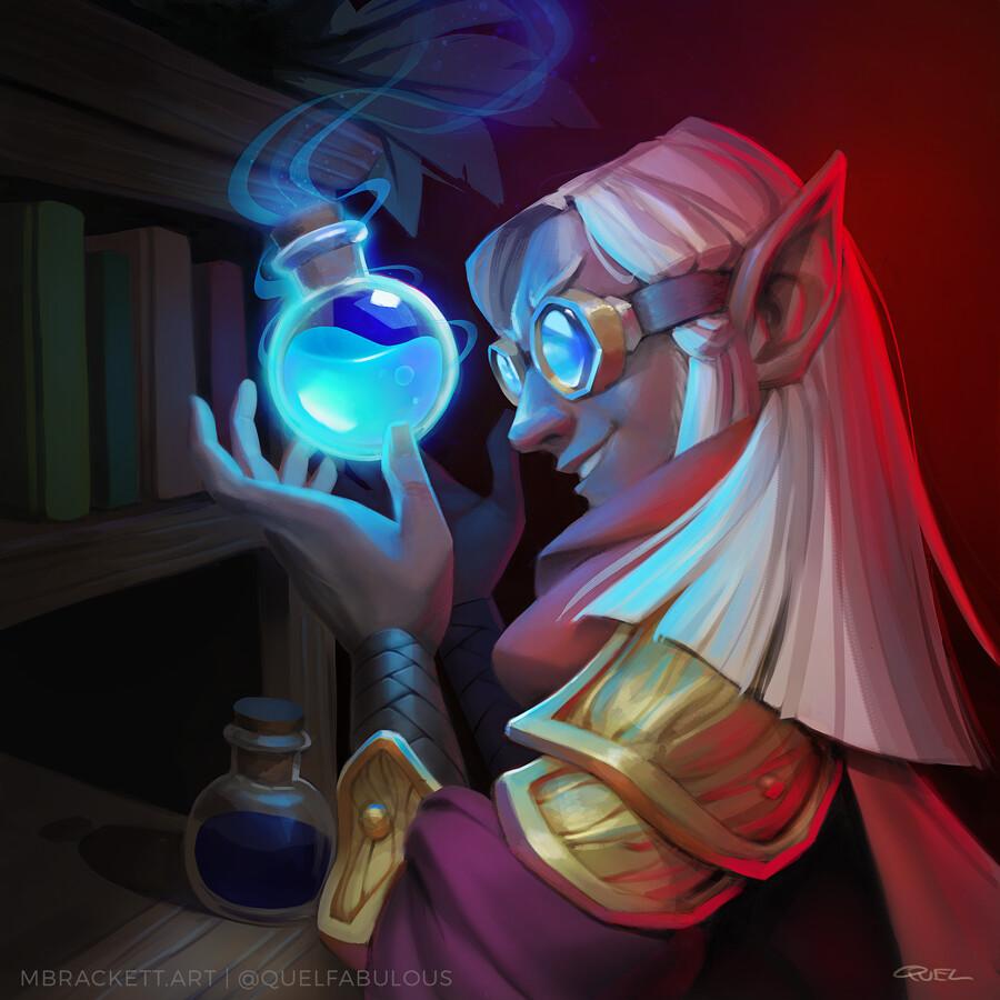Telvanni Alchemist Trading Card Art