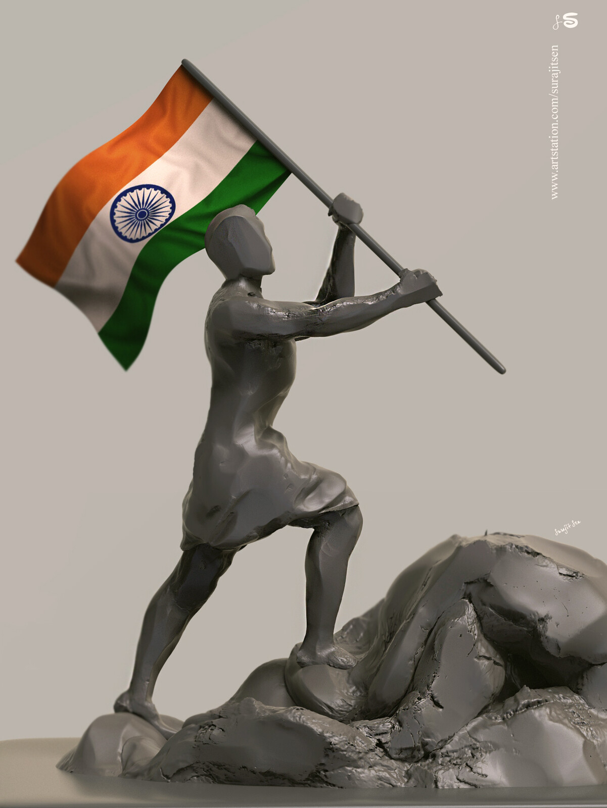 """""""Kargil Vijay Divas""""... One of my Speed Digital Sculpture dedicated to our great National Heroes who gave their lives for the pride of our Country to win Kargil back in1999."""