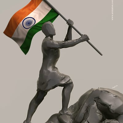 Surajit sen tiranga my pride digital sculpture surajitsen jul2019