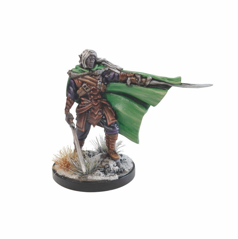 Matt clarke 75004 drizzt miniature painted
