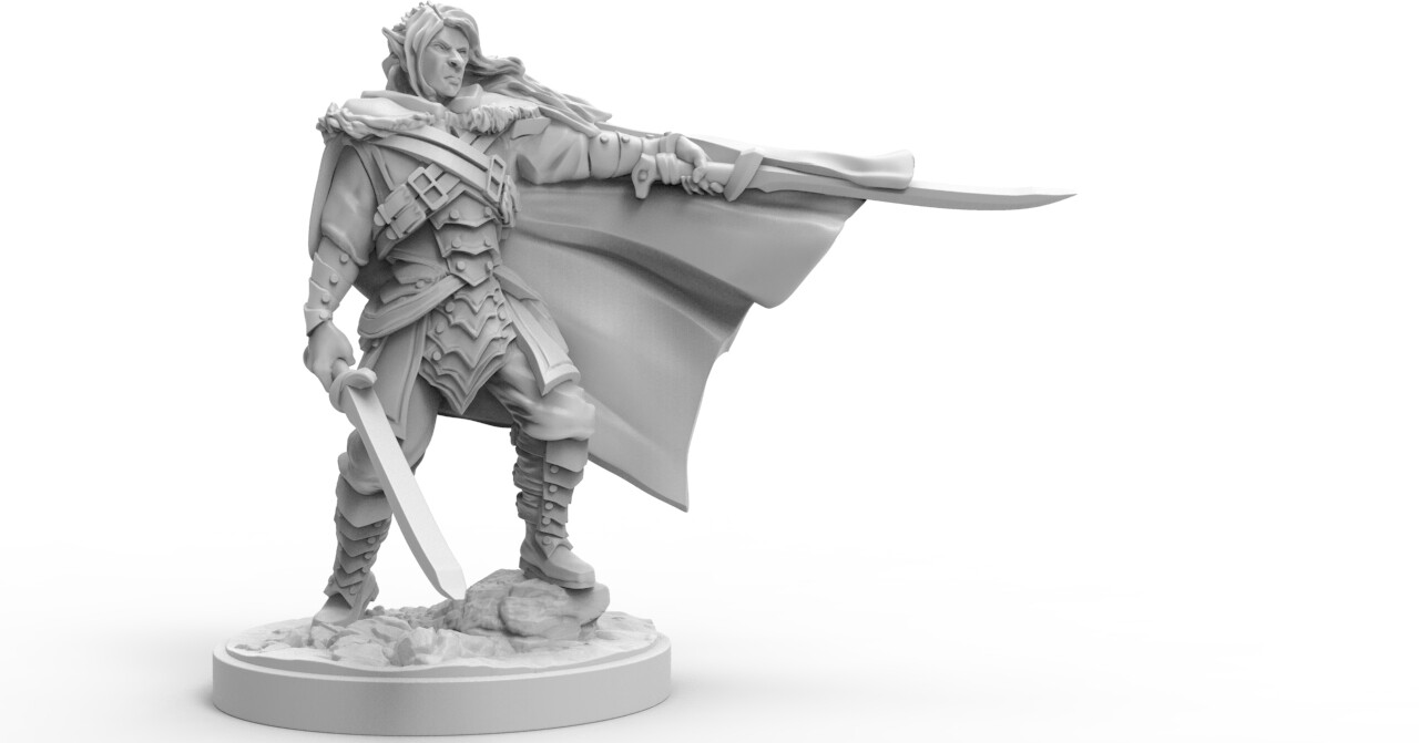 Drizzt - Dungeons and Dragons miniature