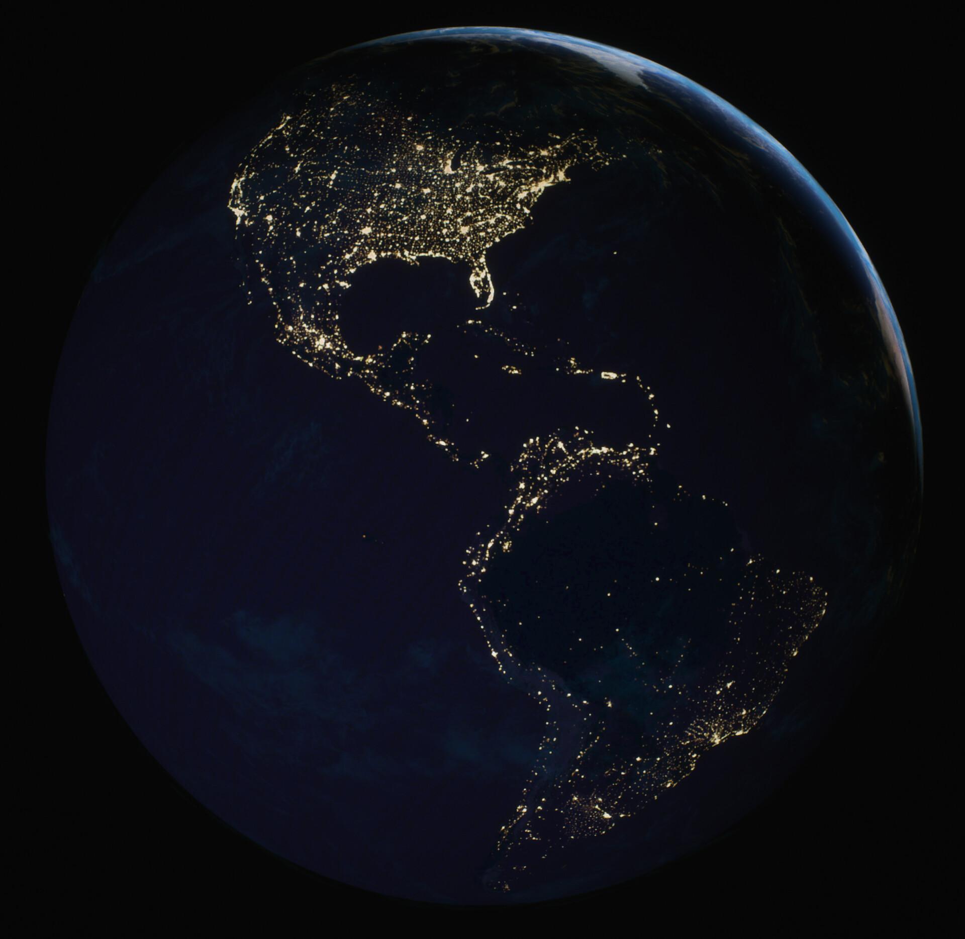 The Black Marble. Original Photo - https://images.nasa.gov/details-GSFC_20171208_Archive_e001587.html