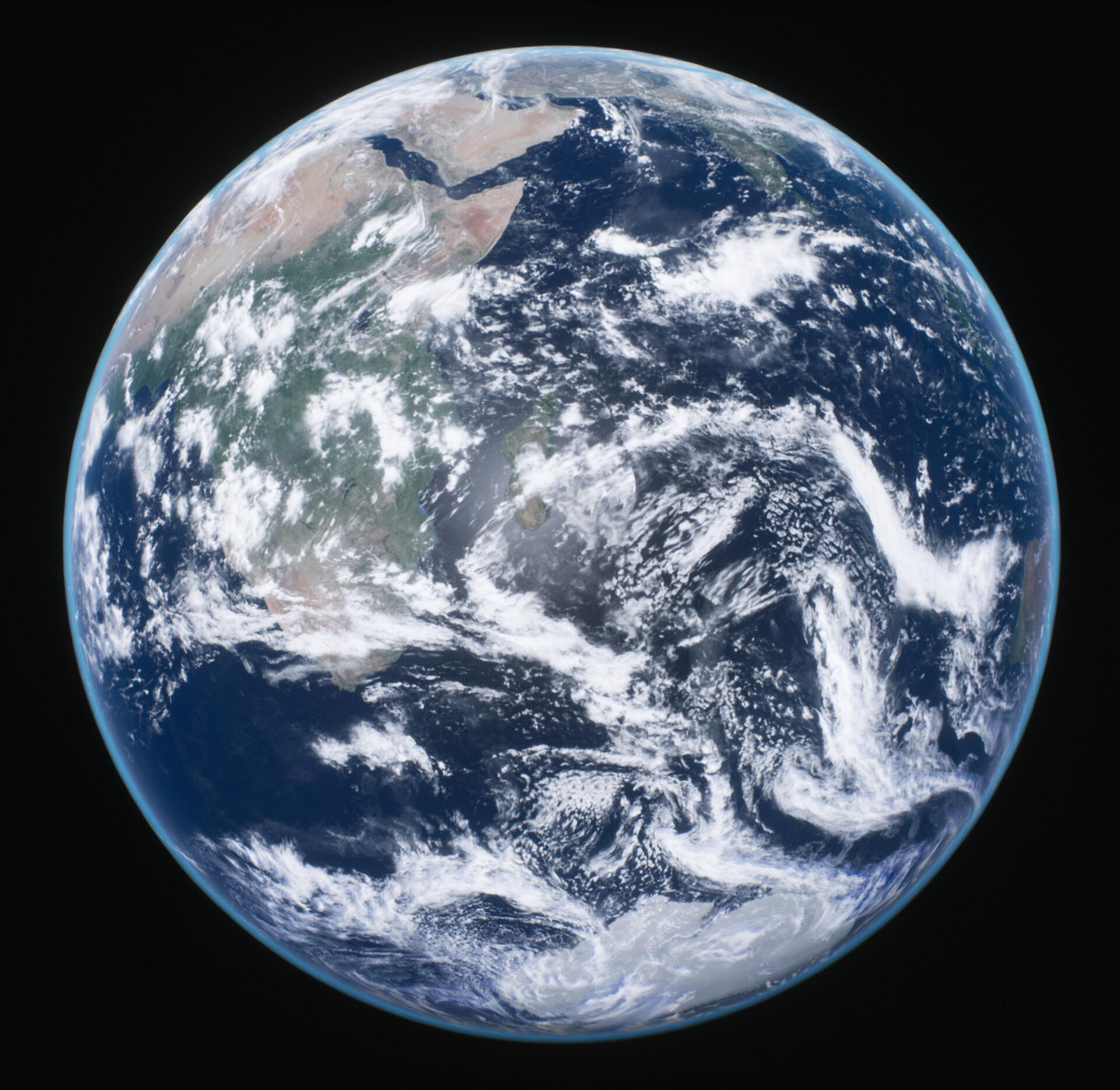 The Blue Marble. Original photo - https://images.nasa.gov/details-as17-148-22727.html
