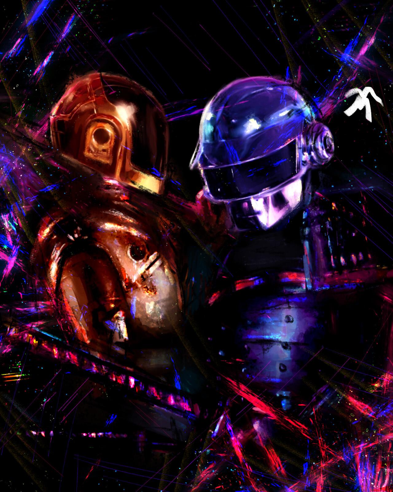 Art Tribute to Daft Punk