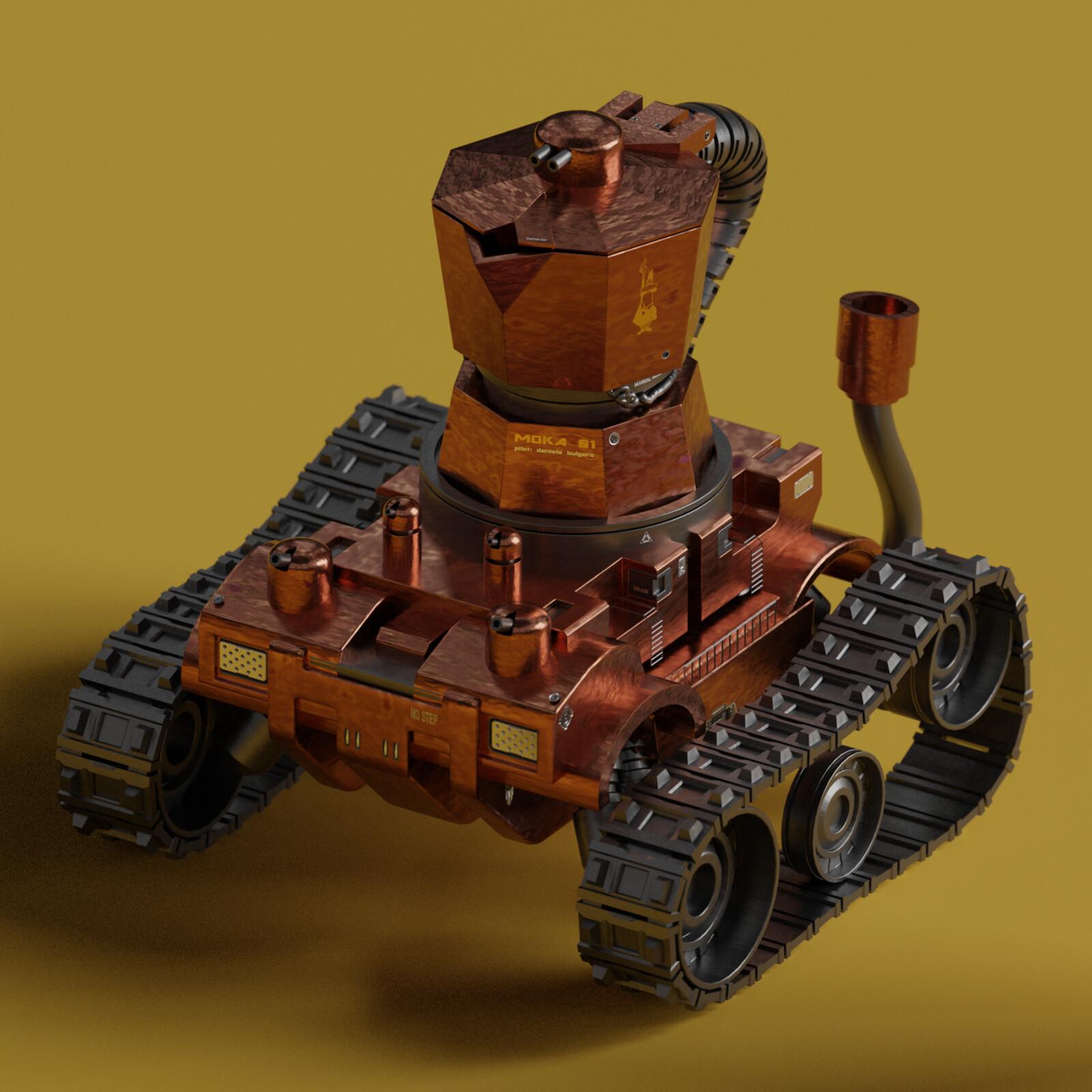 Italian Tank: MECHAMOKA - Bialetti CoffeeMaker Mark 01 (work in progress)
