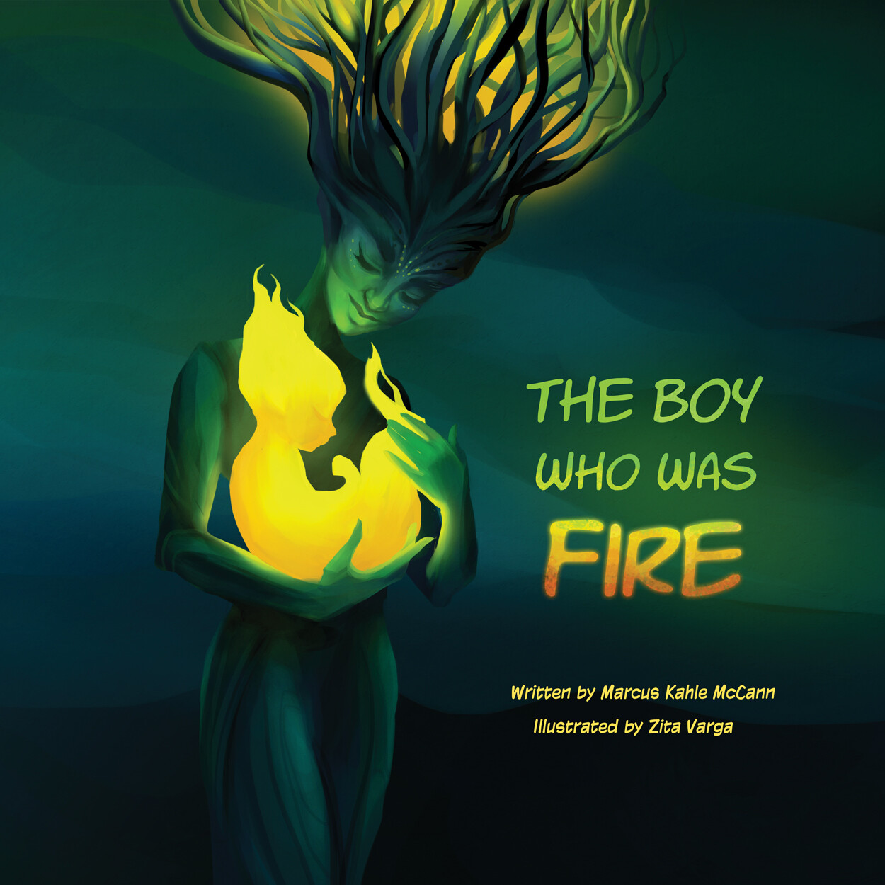 Children's Book Cover: The Boy Who Was Fire