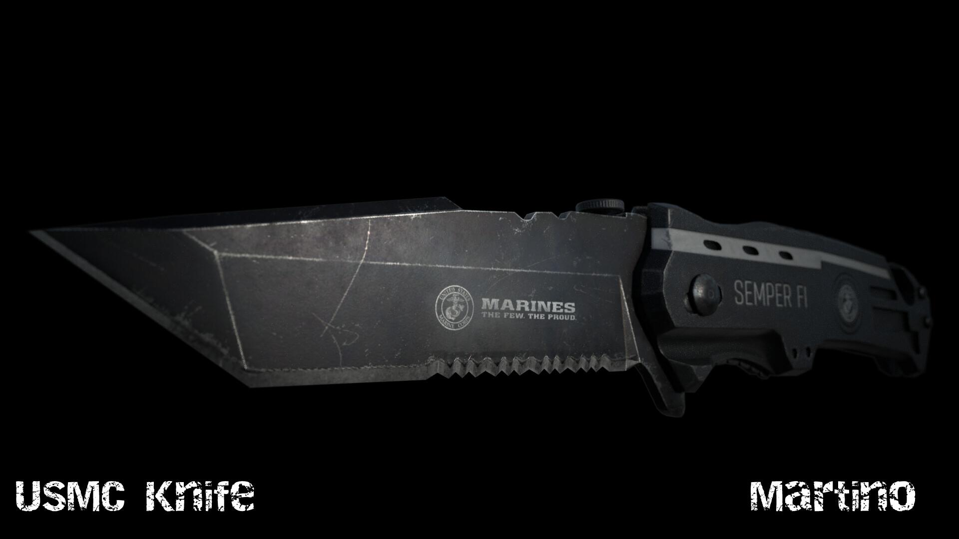 Artstation Usmc Knife Martino Db