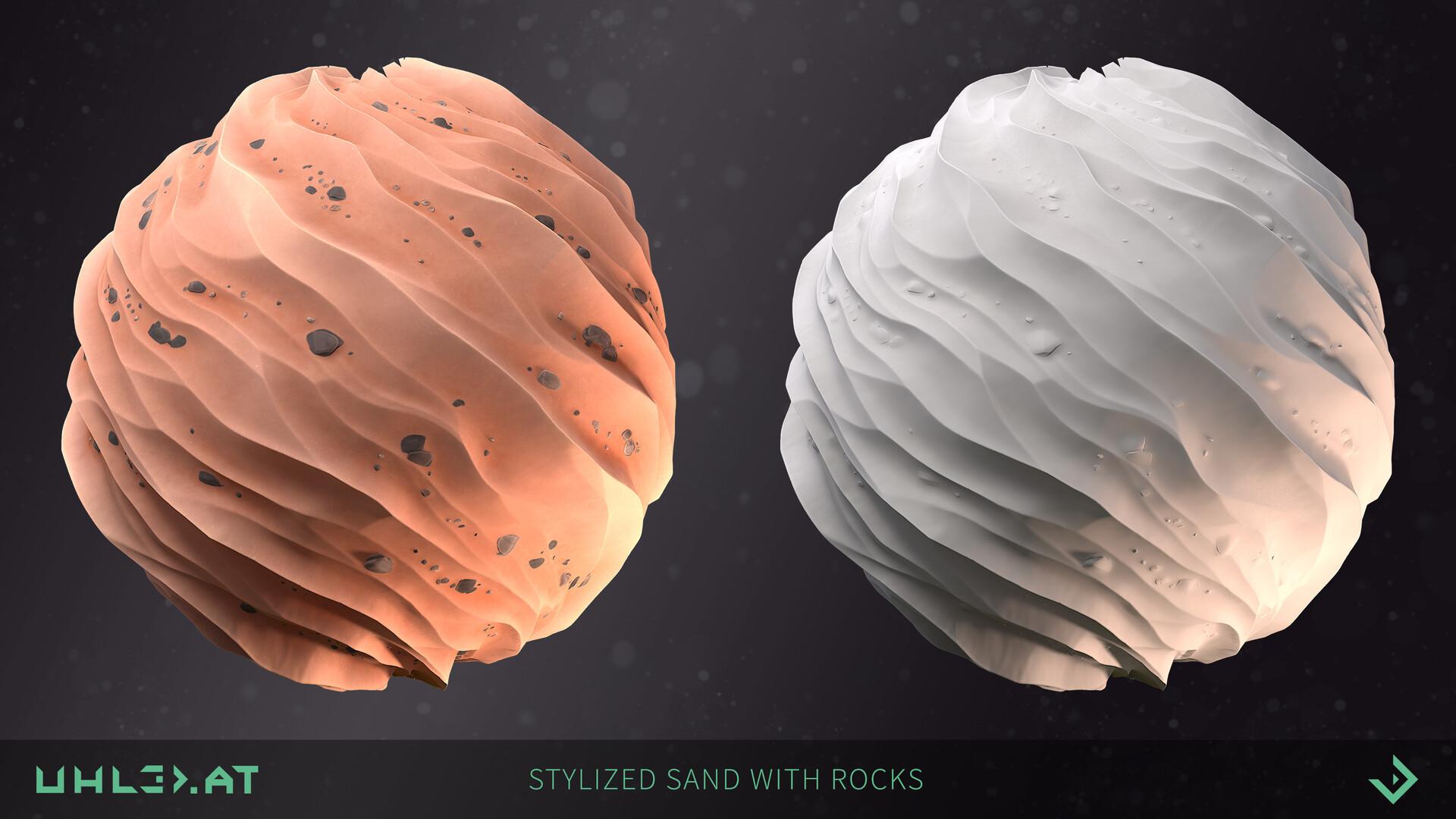 Dominik uhl stylized sand with rocks 03
