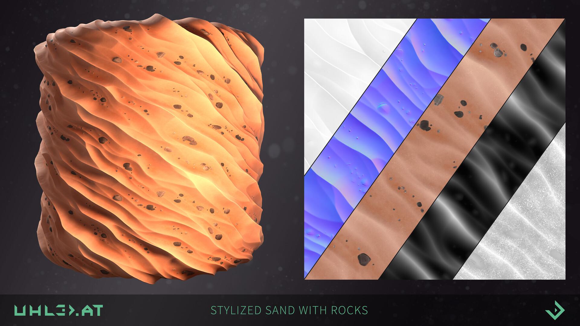 Dominik uhl stylized sand with rocks 06