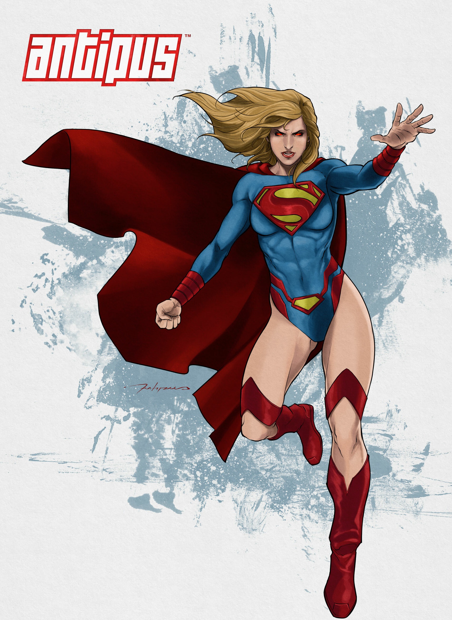 Antiono antipus super girl by luisxiii by luisxiii
