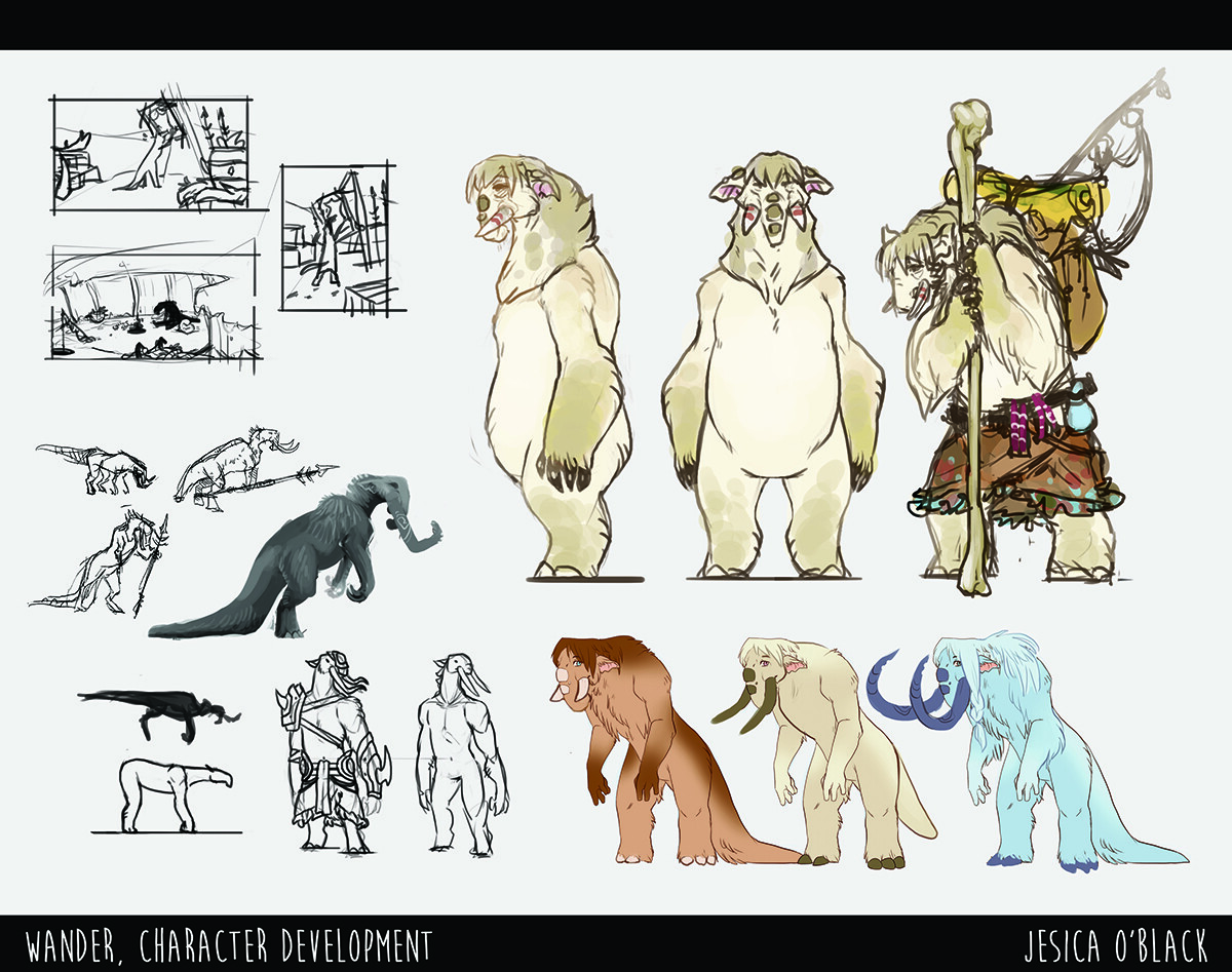 Wander Character & Prop Development