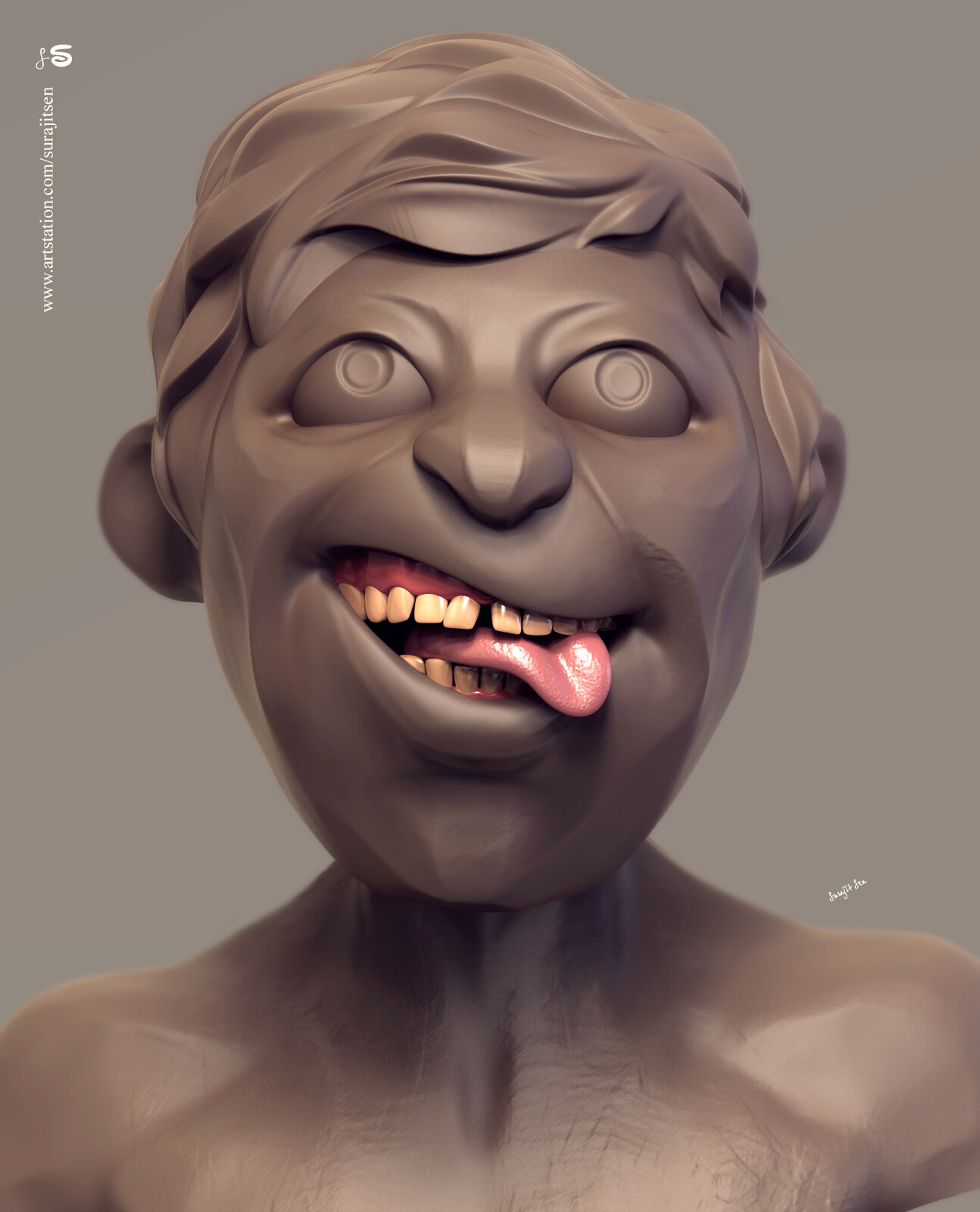 Fun with brushes... Bulty.  My free time quick Digital Sculpting study... Concept taken from my old rough sketch book.