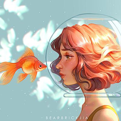 Karmen loh kissing goldfish compressed