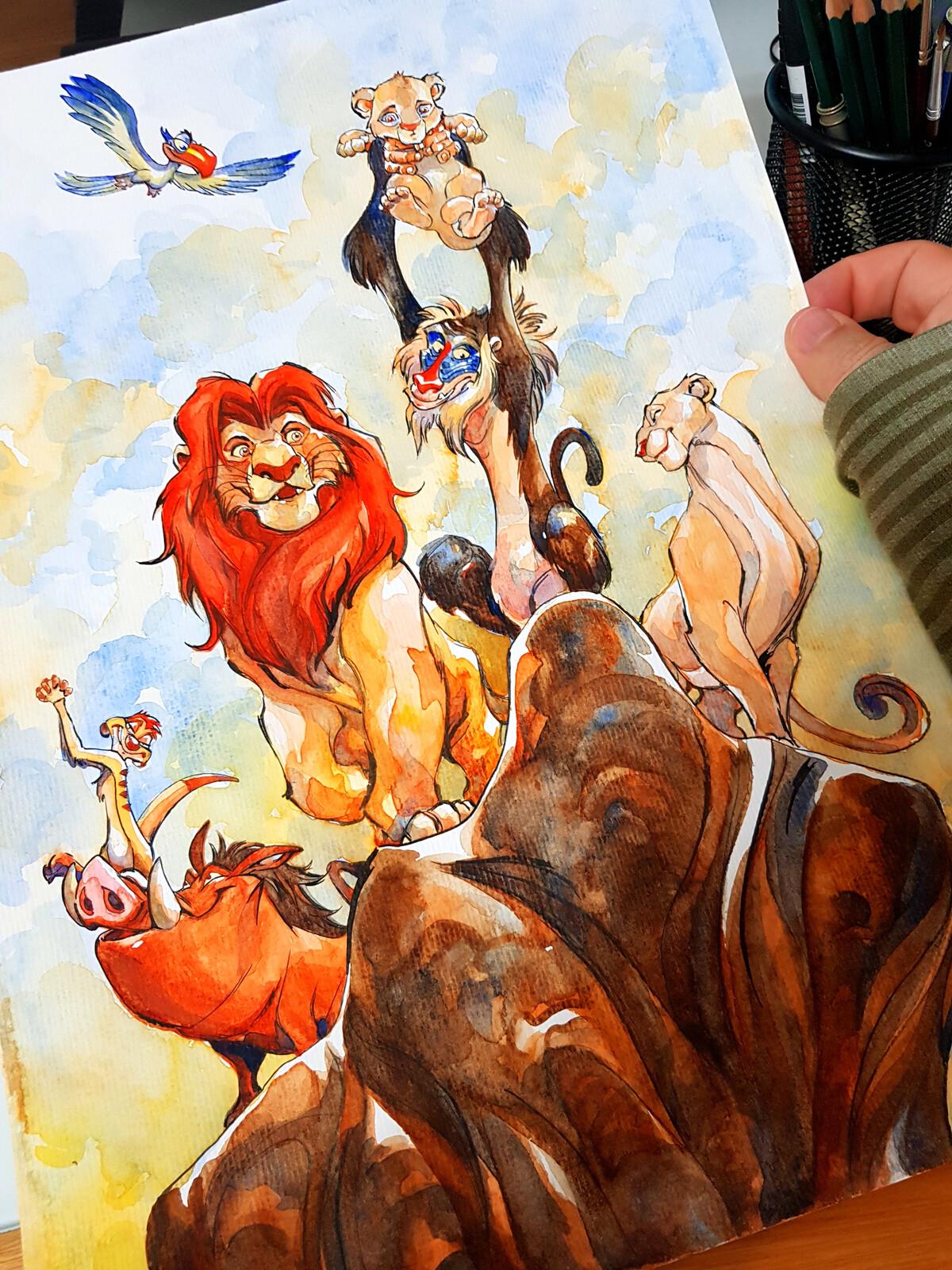 Watercolour, The Lion King