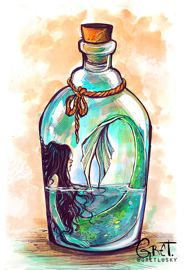 bottle of mermaid