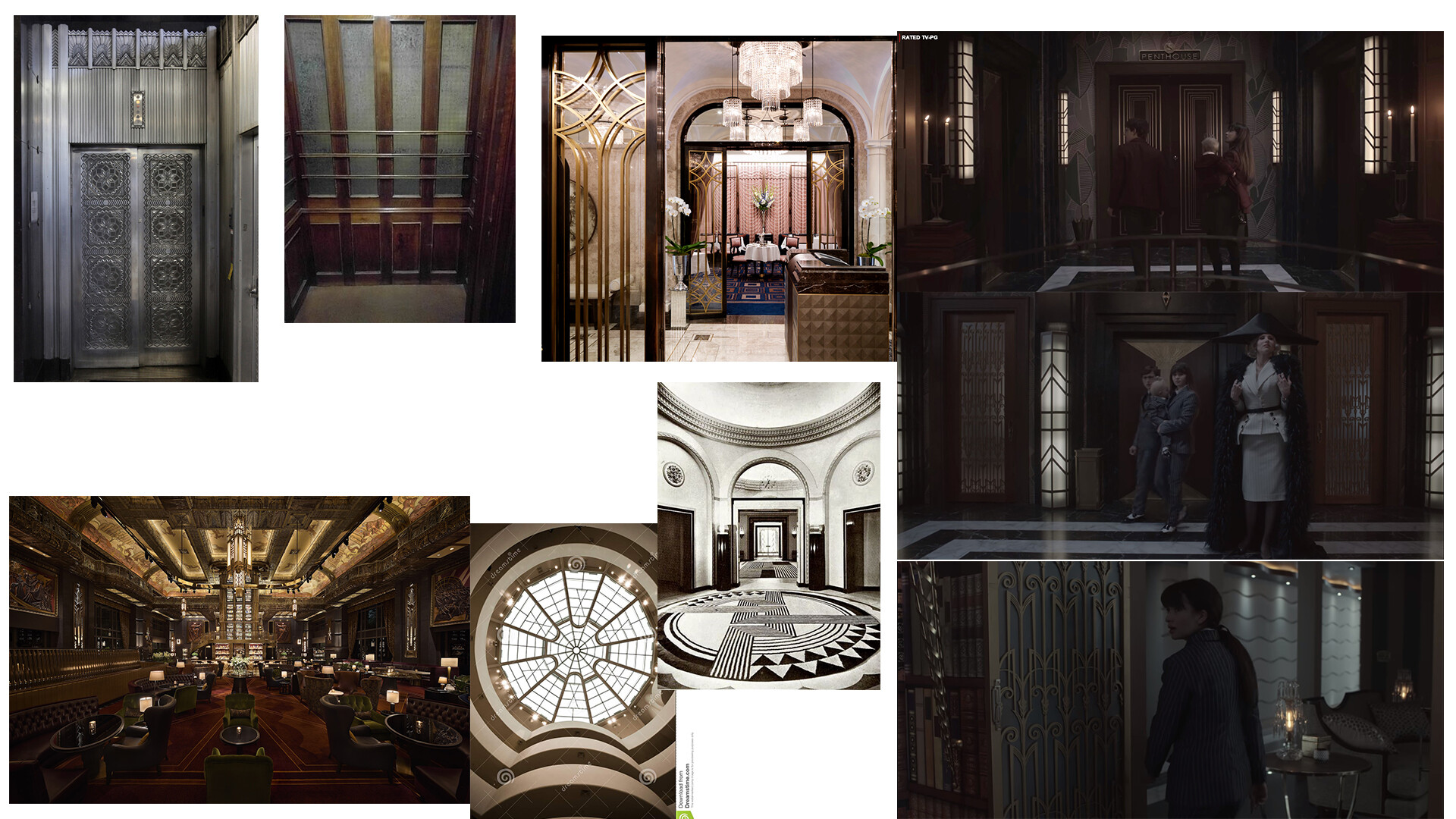 Some of the main concept art I gathered for the project, shout out to A series of unfortunate events for being just a wealth of vis ref (and amazing)