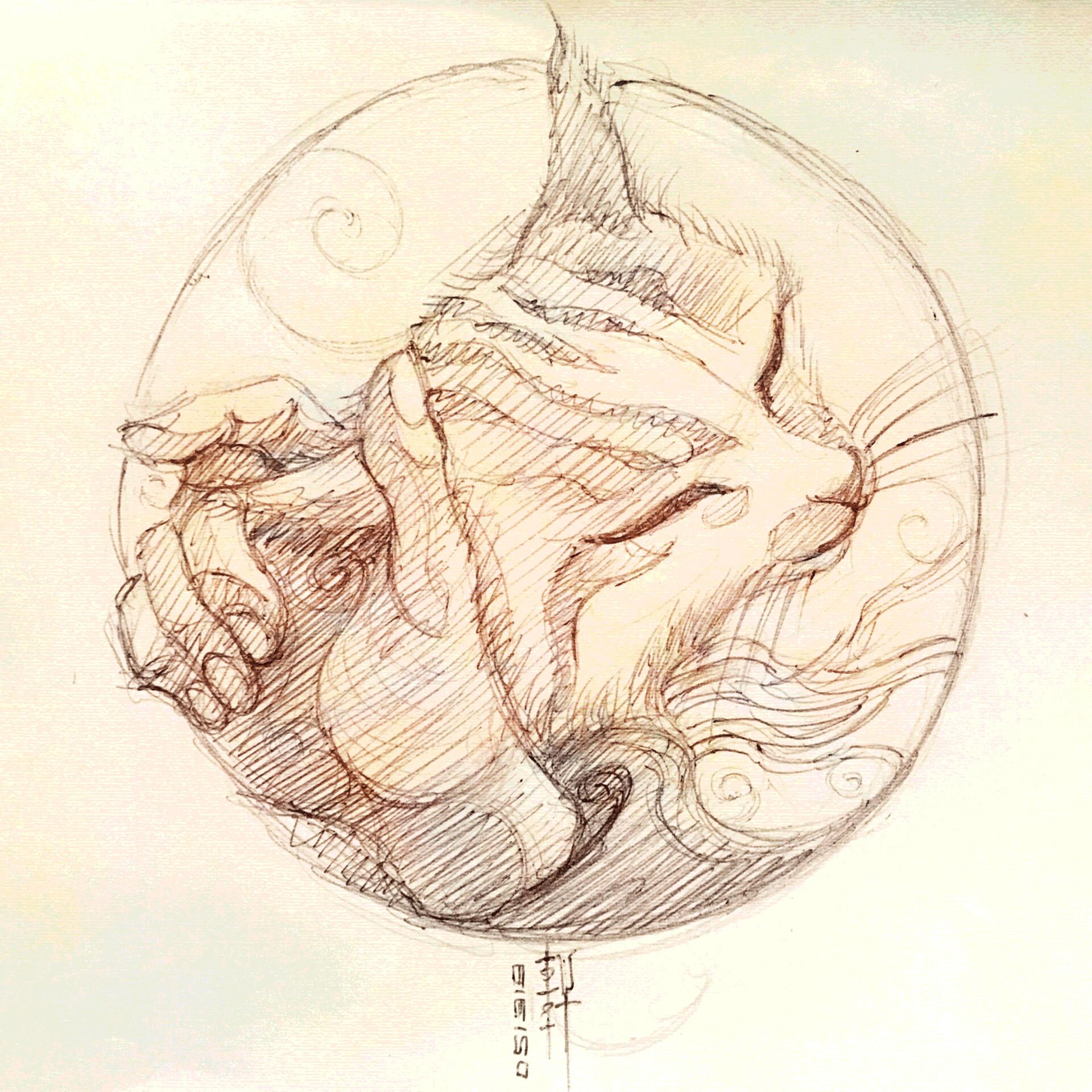 Cuddly Vi - Sketch