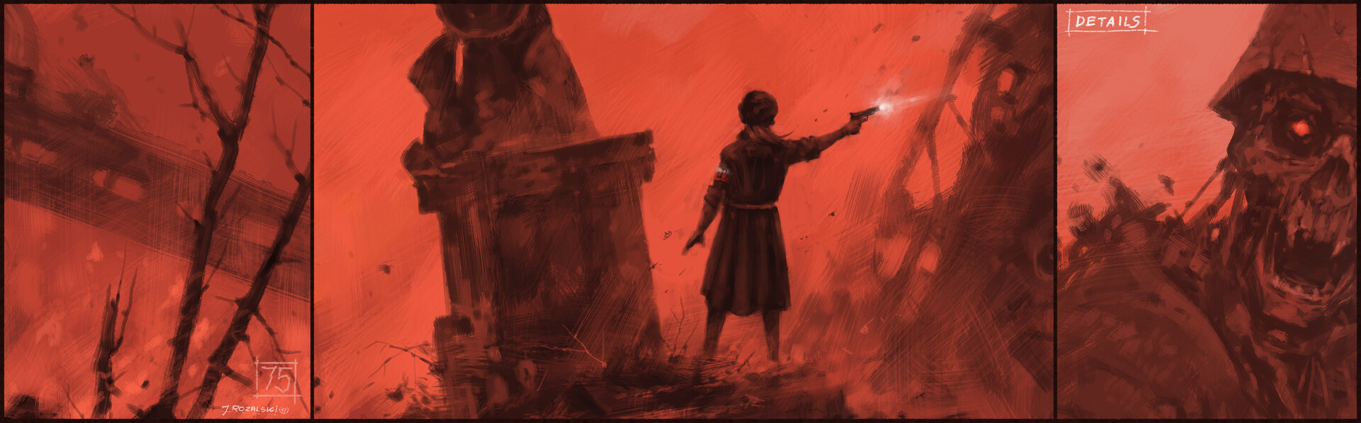 Jakub rozalski warsaw uprising75yearsago process3
