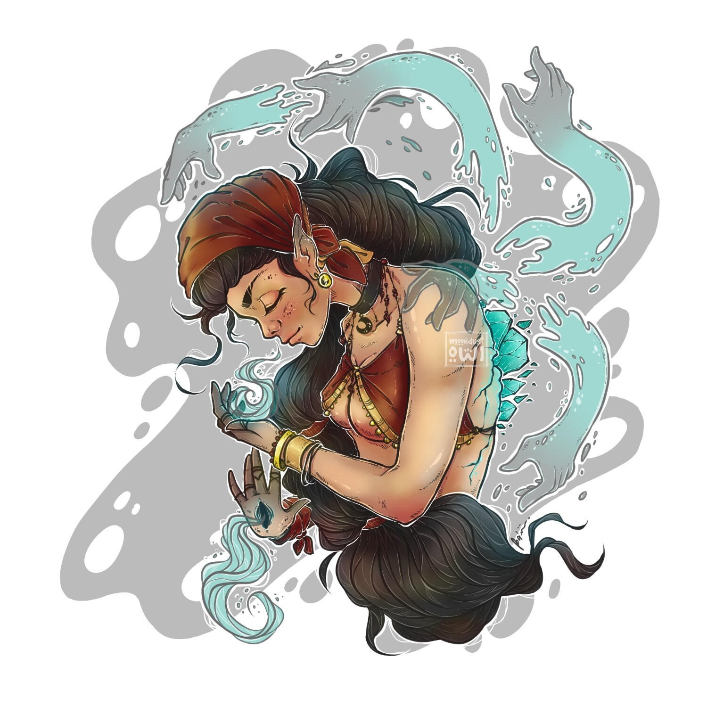 Finished fantasy illustration