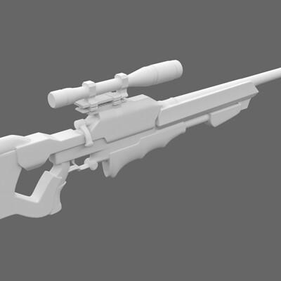 Nick yee esr 203 sniper rifle wip