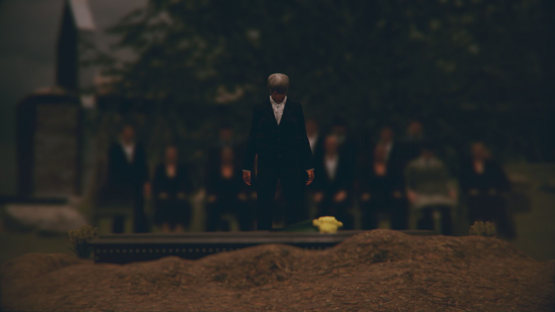 One of two funeral scenes from my new short animation project.