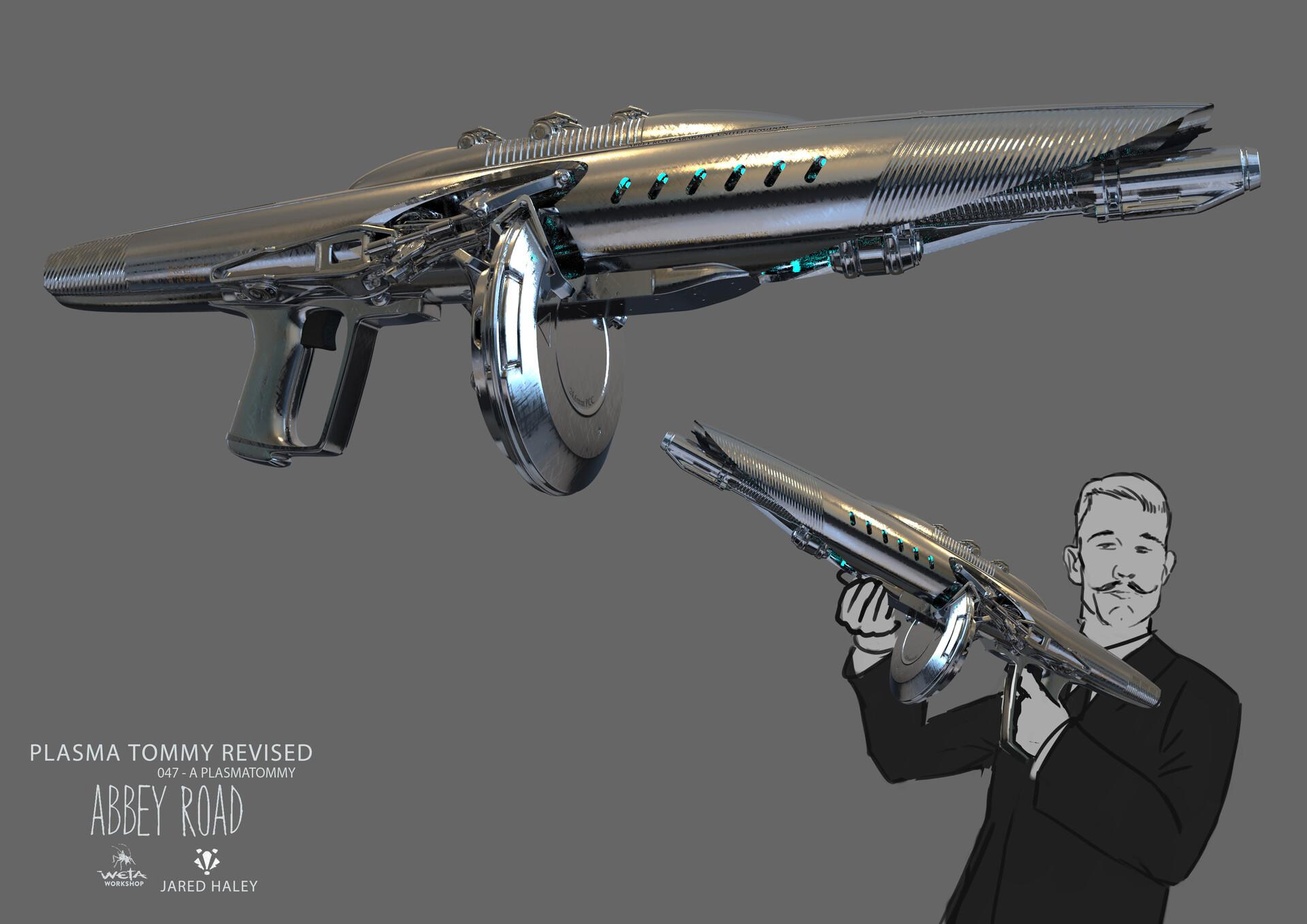 Plasma Tommy Gun - Artist: Jared Haley