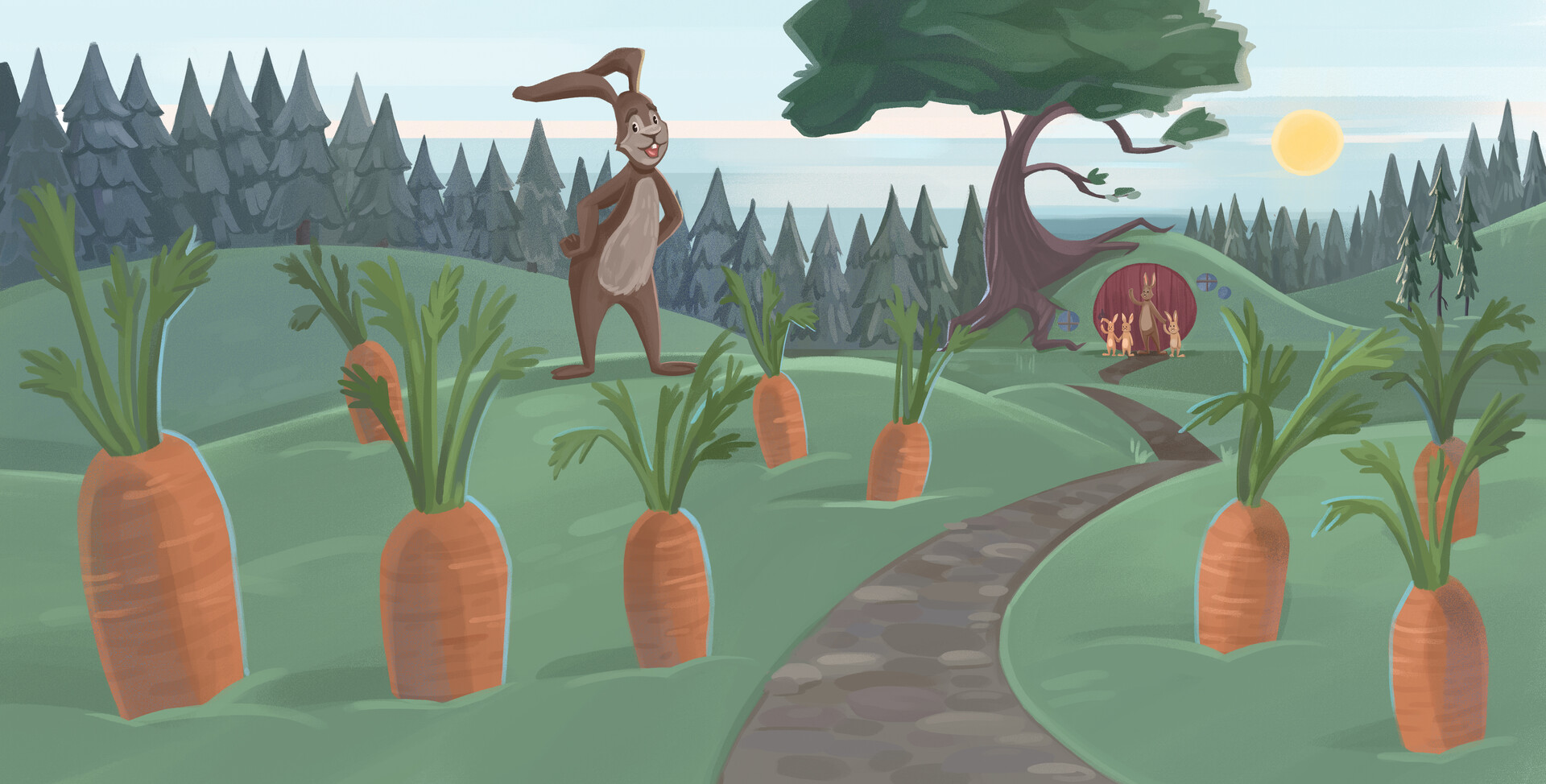 He would plant his own carrots!