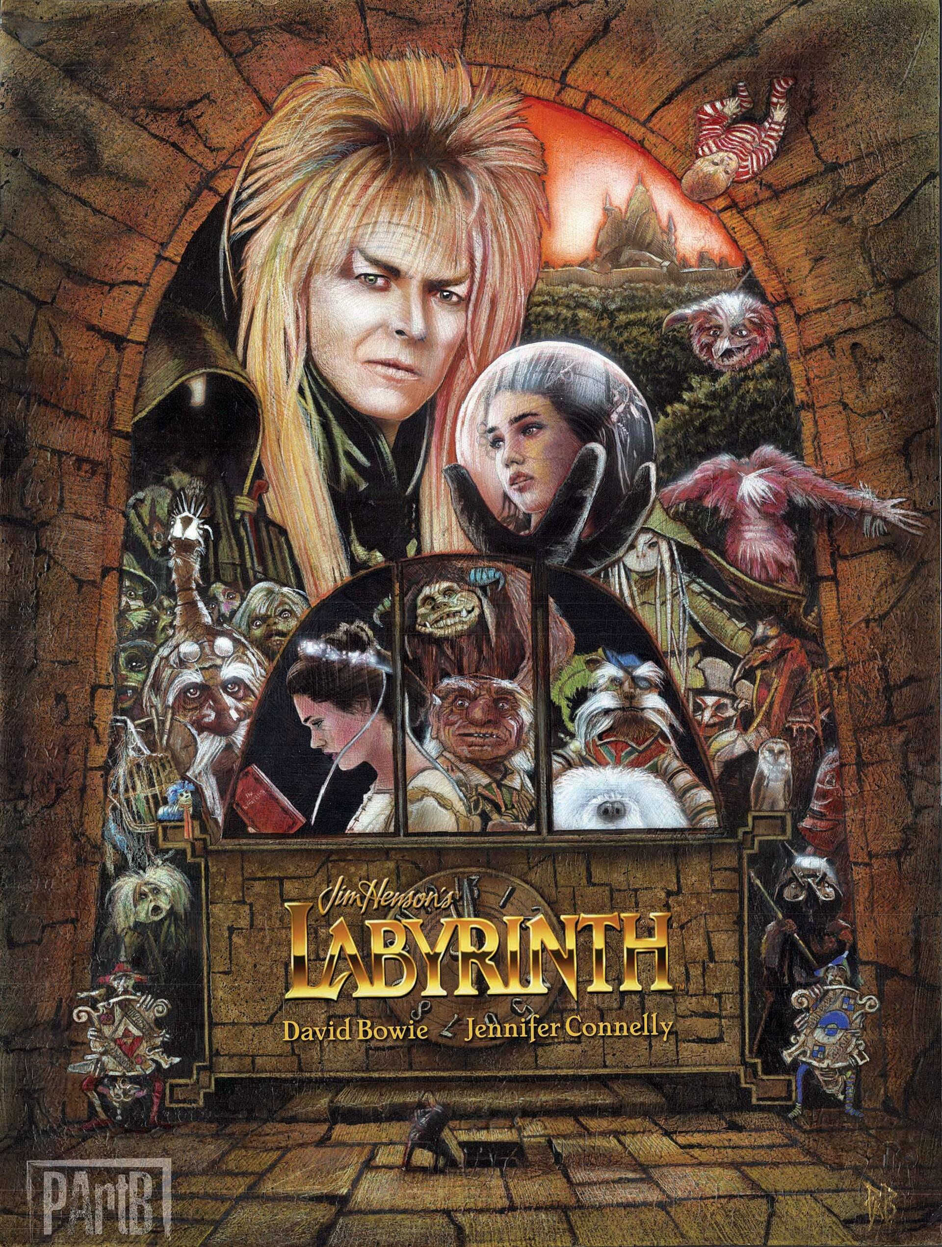 ArtStation - Labyrinth (1986) fan art poster, Paul Butcher
