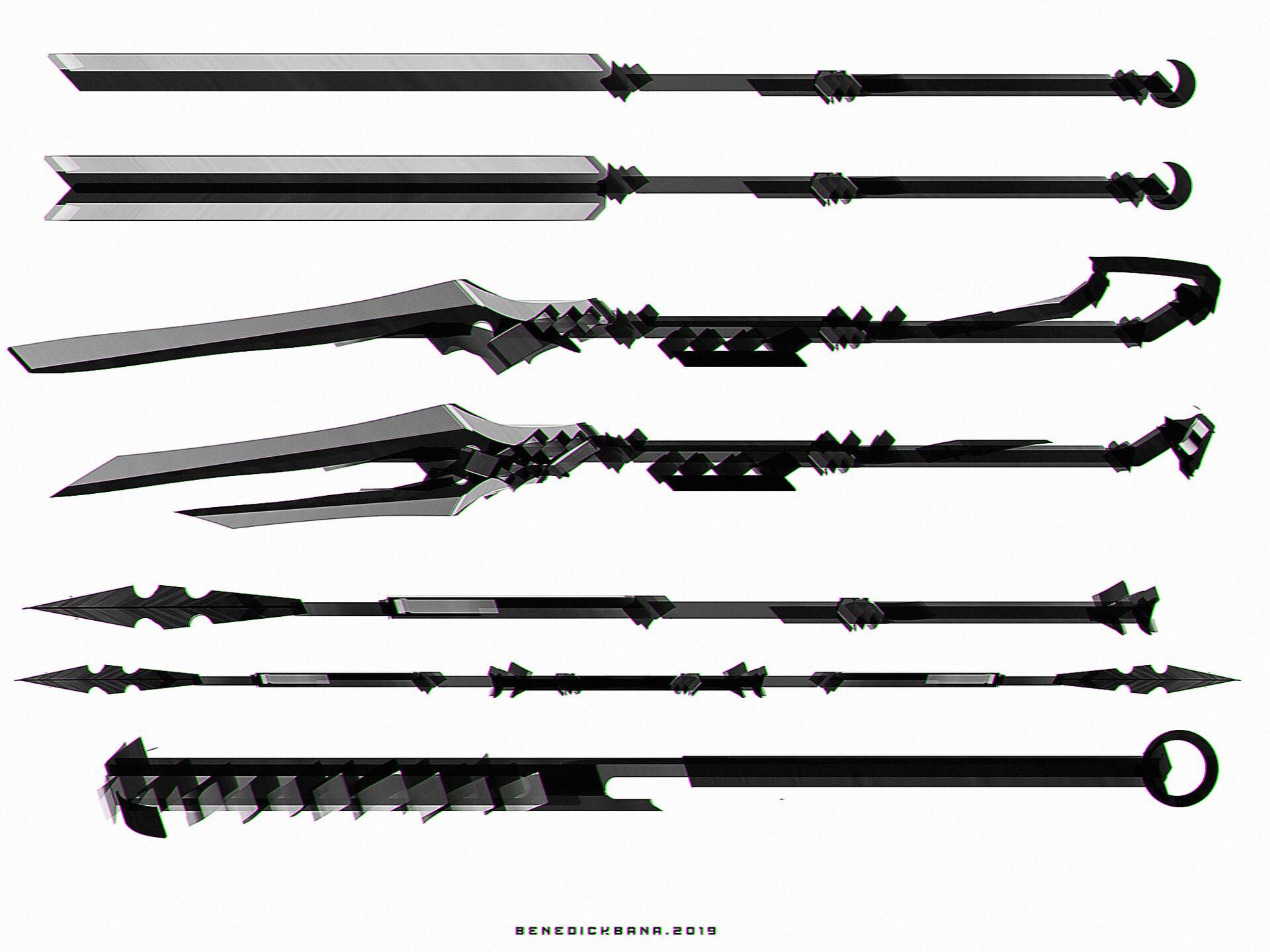 Spear Long Blade Designs B