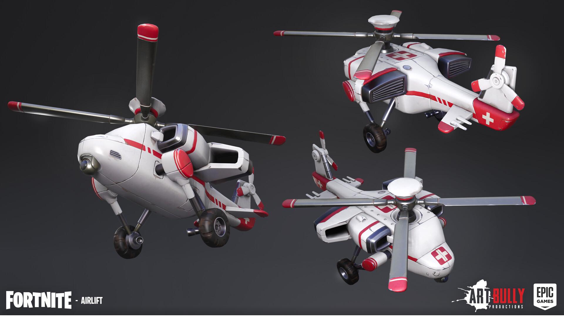 Patrick nuckels glider airlift render texture