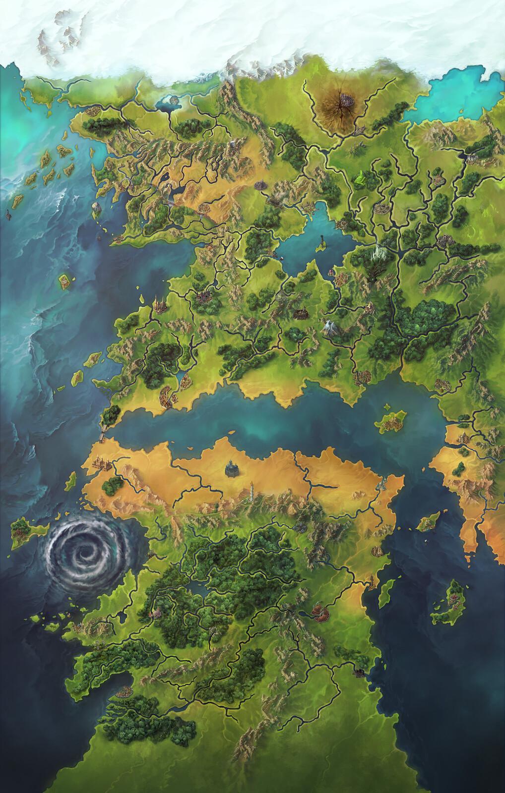 Pathfinder Second Edition: Inner Sea World Map