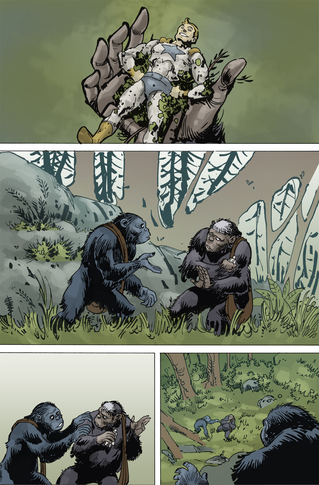 Planet of the Apes: The Simian Age, Page 1