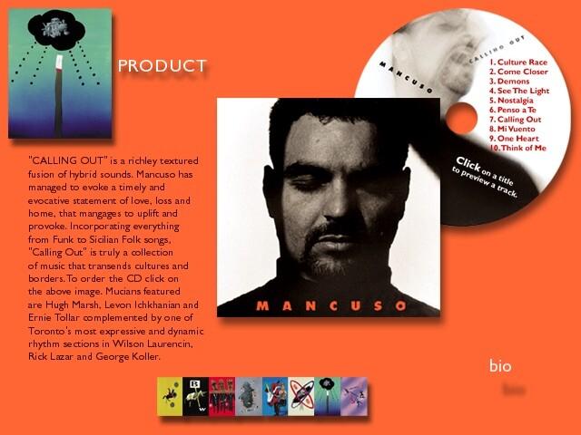 Designs for Dominic Mancuso award winning site.