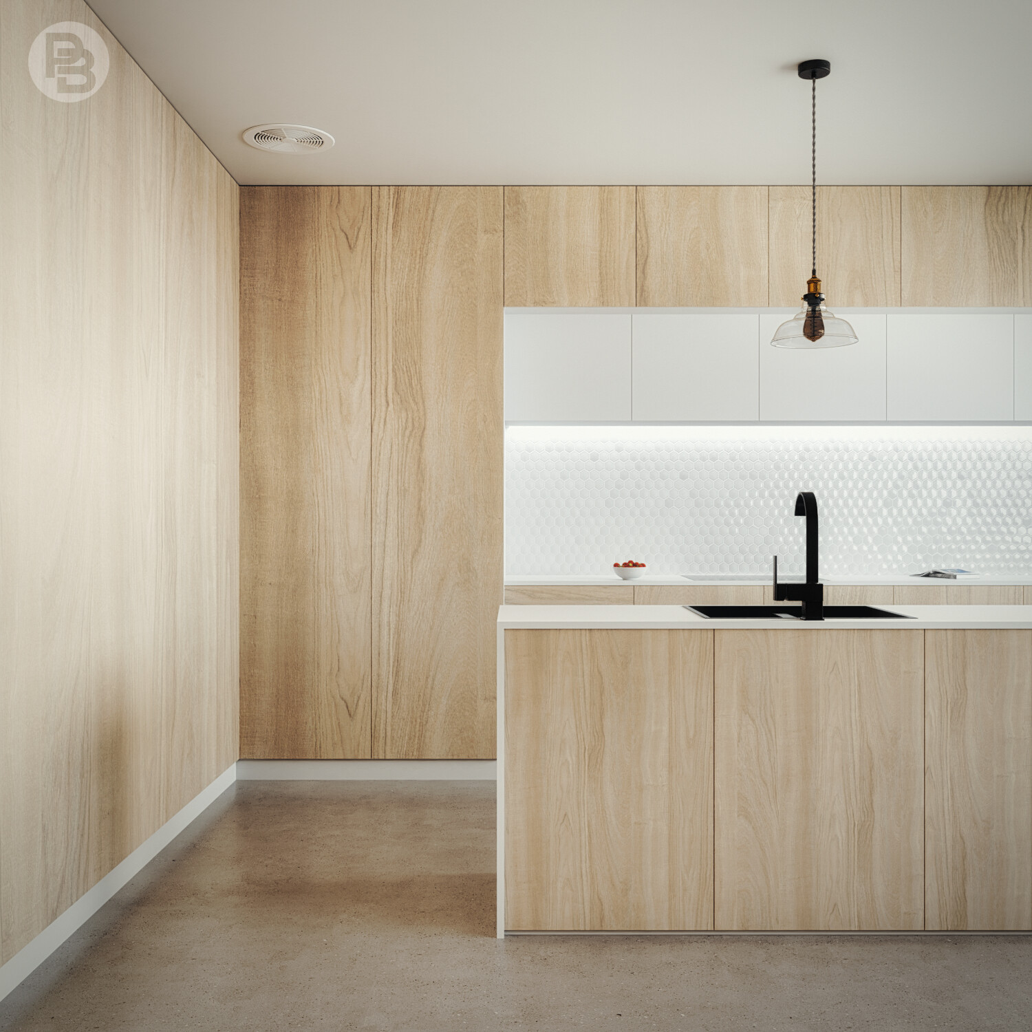 Modern & minimalist Kitchen