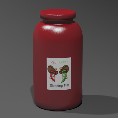 Tim holmes pill bottle render