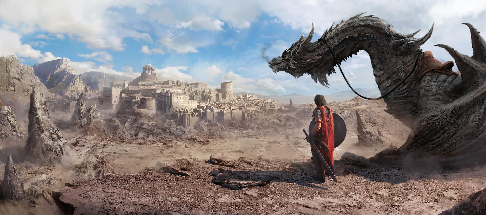 Pablo olivera dragon nippur print